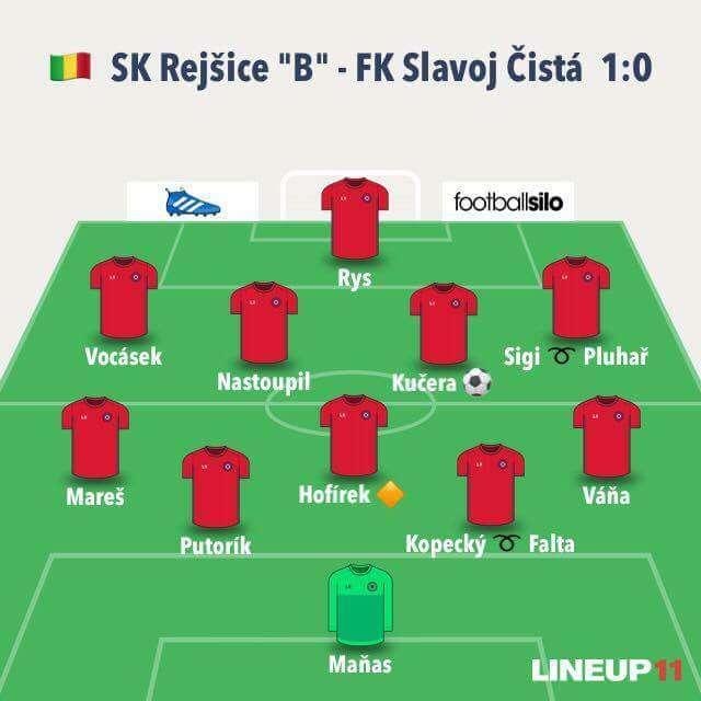 SK Rejšice B - FK Slavoj Čistá